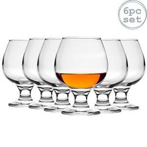 Brandy Cognac Liquor Snifter Drinking Glasses Set, 390ml (13.7oz) - Box of 6