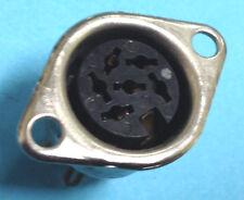 6 pcs. Female 6-pin DIN Socket Panel Mount Jack- Connector plug- solder type