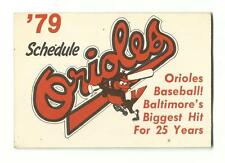 1979 Baltimore Orioles Baseball Schedule Baltimore's Biggest Hit For 25 Years