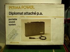 Vintage Perma Power Diplomat S-210A Portable PA Public Address amplifier system