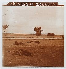 Cadavres de Zouaves Guerre 14-18 France Photo Stereo PL46Th2n10 Plaque Vintage