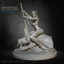 Unpainted 75MM Female Dragon Slayer Girl Resin Figure Model Kit Unassembled GK