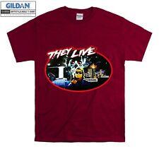 John Carpenter They Live T-shirt Cool T shirt Men Women Unisex Tshirt 3995