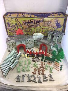 Vintage Marx Robin Hood Castle Set No. 4719 Playset With Box