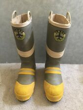 A A.R.F.F. AIRCRAFT RESCUE FIRE FIREFIGHTING BOOTS MEN SIZE 10 MEDIUM TRUCK
