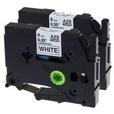 2 PK TZ Tze 221 Label Tape Black on White For Brother P-Touch PT1090 PT300 PT18R