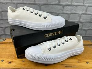 CONVERSE WHITE MONO CHUCK TAYLOR ALL STAR LO TRAINERS MANY SIZES MENS LADIES C