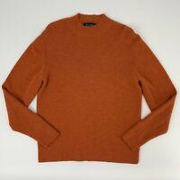 Brooks Brothers Fine Italian Merino Wool Ribbed Sweater Women Size L High Neck