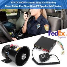 400W Car Warning Alarm 9 Sound Loud Police Fire Siren Horn PA Speaker MIC System