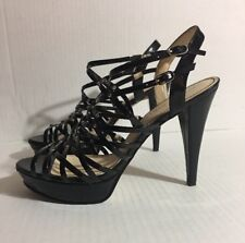 Pre-Owned Marc Fisher Patent Black Embellished Sandal Size 10M