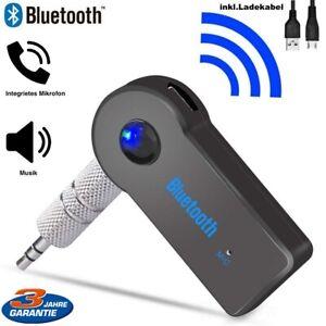 Audio Bluetooth Adapter KFZ Receiver AUX Kabel Auto 3.5mm Klinke Empfänger (NEU)