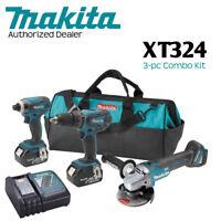 Makita XT324 18V LXT Lithium‑Ion Cordless 3‑Pc. Combo Kit (3.0Ah)