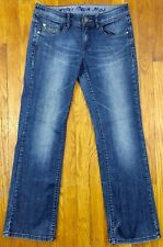 Esprit Denim 94107 Women's Straight Distressed Blue Jeans Actual Size W31 L30