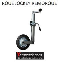 Roue jockey pour remorque 48 mm telescopique pour remorque avec collier