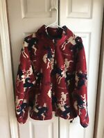 VTG Men's Outback Trading Company Fleece Jacket Rodeo Cowboy Red Size XL