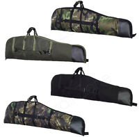 Padded Rifle & Scope Gun Bag Shotgun Slip Case With Sling Air Rifle Airsoft New