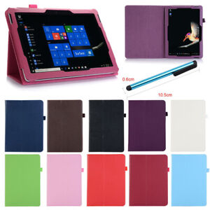 For Microsoft Surface Pro 3 4 Go Tablet PU Leather Case Stand Flip Slim Cover