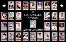 1961 LOS ANGELES ANGELS Baseball Card Complete Set POSTER Artwork Man Cave Decor