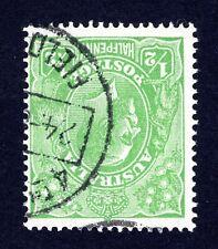 AUSTRALIA 1918 KGV 1/2d GREEN INVERTED WMK + LISTED VARIETY ACSC 63(4)v 4R55 !!