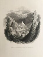 1834 Antique Print; Howth / Baily Lighthouse from the Needles, Dublin - Petrie