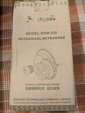 Cherub High Accuracy Mechanical Metronome for Piano Guitar (Wsm-330) - Black