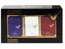 Voi Jeans Men Aftershave Gift set 3x 30ml EDT Blu Bianco Rosso