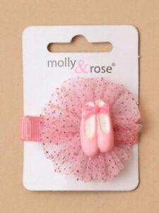 Ballet Molly & Rose Pink Ballet Hair Clip Slide for budding ballerinas uk