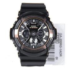 * Nuevo * CASIO Mens G Shock Negro y Oro Rosa XL Oversize Reloj GA200RG-1A