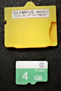 XD Picture Card Adapter+4GB MicroSDHC Memory Card