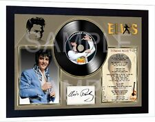 Elvis Presley Unchained Melody Moody Blue SIGNED FRAMED PHOTO print AND Mini LP