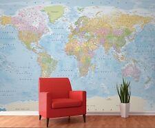 Muro murale sfondo 315x232cm politica MAPPA DEL MONDO HOME muri foto decor