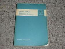 1968 Mercedes Benz 280SL 280 SL Maintenance Shop Service Repair Manual W113