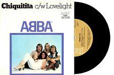 "ABBA - CHIQUITITA / LOVELIGHT - RARE 7"" 45 VINYL RECORD WRAP SLV 1978"