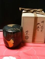 Tea Caddy Ceremony Natsume Sado Japanese Traditional Craft t552