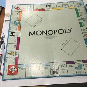 Monopoly Replacement Pieces - Game Boards, Pieces, Money, Property Cards ETC