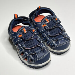 Carter's Chris Fisherman Sport Sandal Toddler Size 7 Hook & Loop Navy Blue