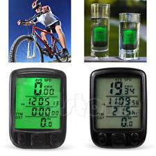 Waterproof Bicycle Bike Cycle Computer LCD Odometer Speedometer With Backlight