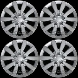 "fits Nissan Sentra 2013-2019 S SV 16"" Wheel Covers Snap On Full Rim Hub Caps R16"