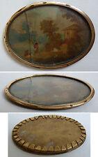Peinture miniature fin du 18e siècle paysage painting