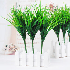 10pcs/lot Green Grass  Artificial  Plants Fake Flower Household Wedding Decor