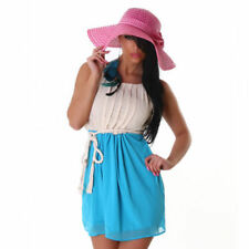 Vestiti da donna cocktail blu con girocollo
