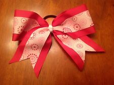 Breast Cancer Awareness Cheer Hair Bow