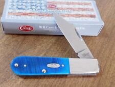 CASE XX New Caribbean Blue Sawcut Bone Handle Single Blade Barlow Knife/Knives