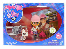 Littlest Pet Shop Blythe Doll Playfully Plaid with #1616 Horse Pony New