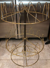 Vintage Mcm spinner rack metal wire round stand rotating shoes Spinning Nice