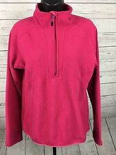 Womens Nike ACG Therma Fit Sz M Pink 1/2 Zip Fleece Pullover Jacket