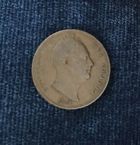1831 Farthing Coin Copper Great Britain King William IV Farthing Coin