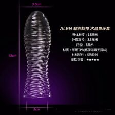 Reusable stripe Penis Condom Latex lubricant Penis Impotence Erection g-spot