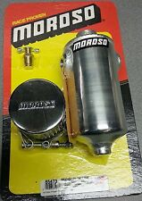 New Moroso 85473 polished aluminum breather overflow tank with vent drain cock