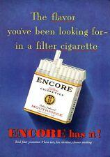 1952 Encore 'Mouthpiece' Cigarette  PRINT AD